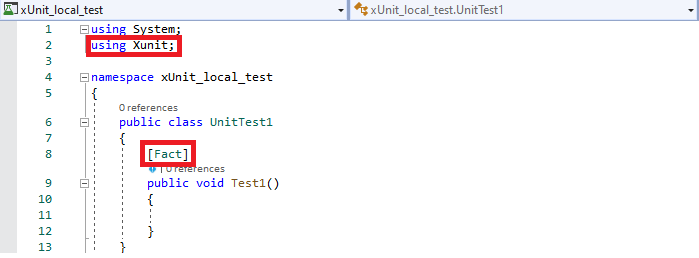 Unit local test