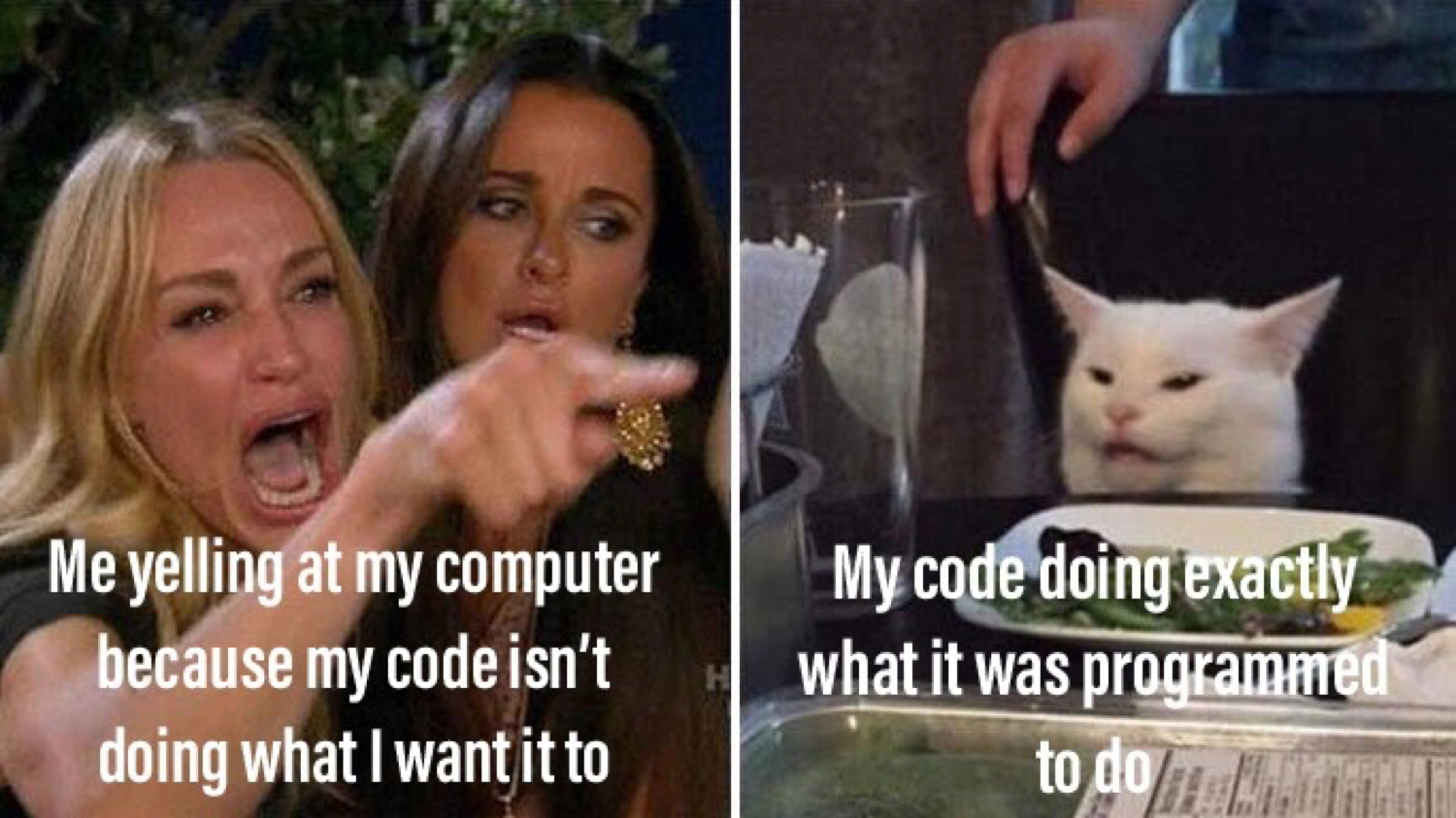 Don't blame the code