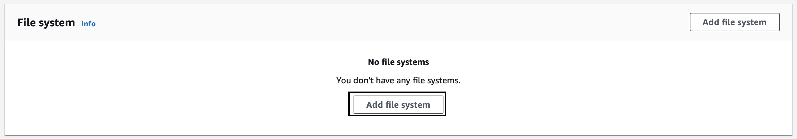 Adding a file system