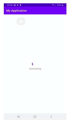 connection screen