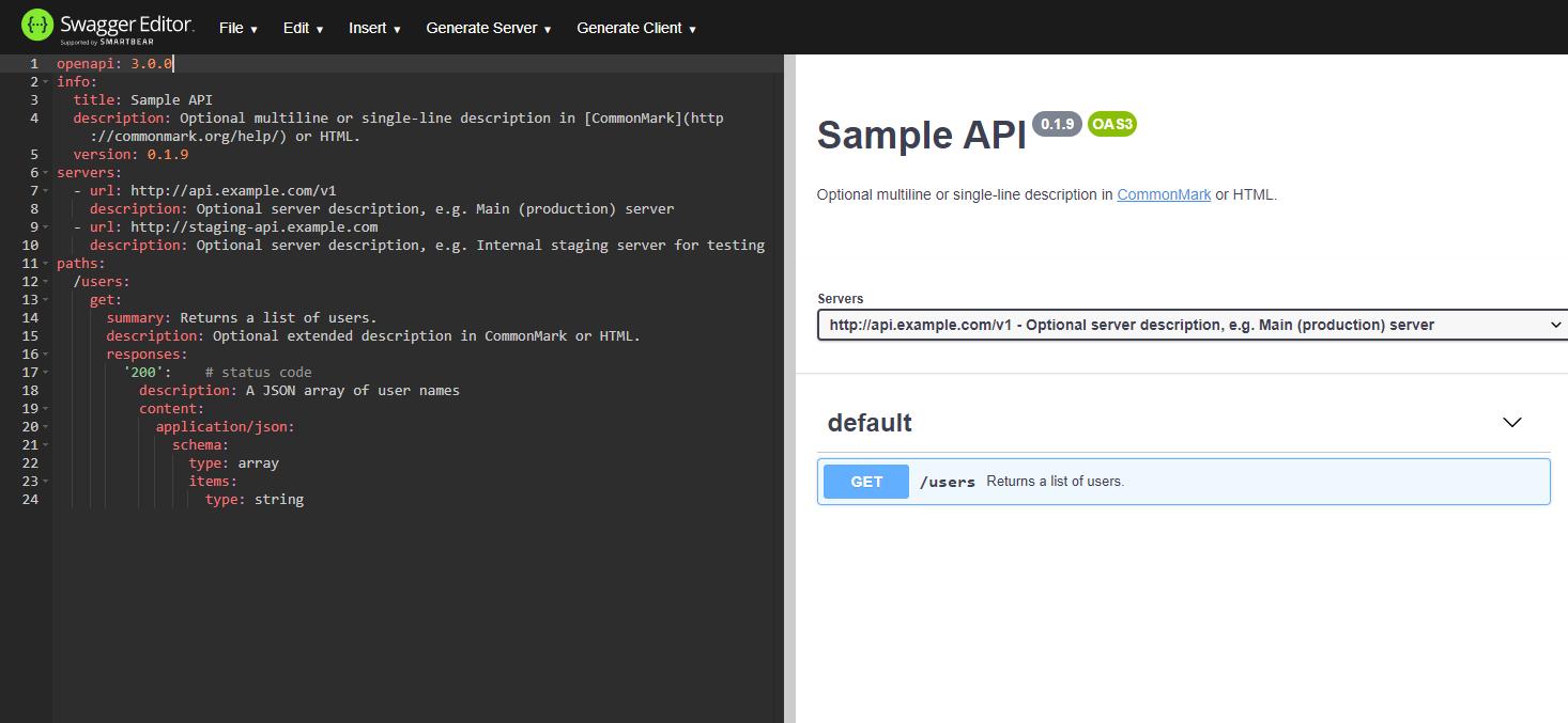 Swagger API GUI