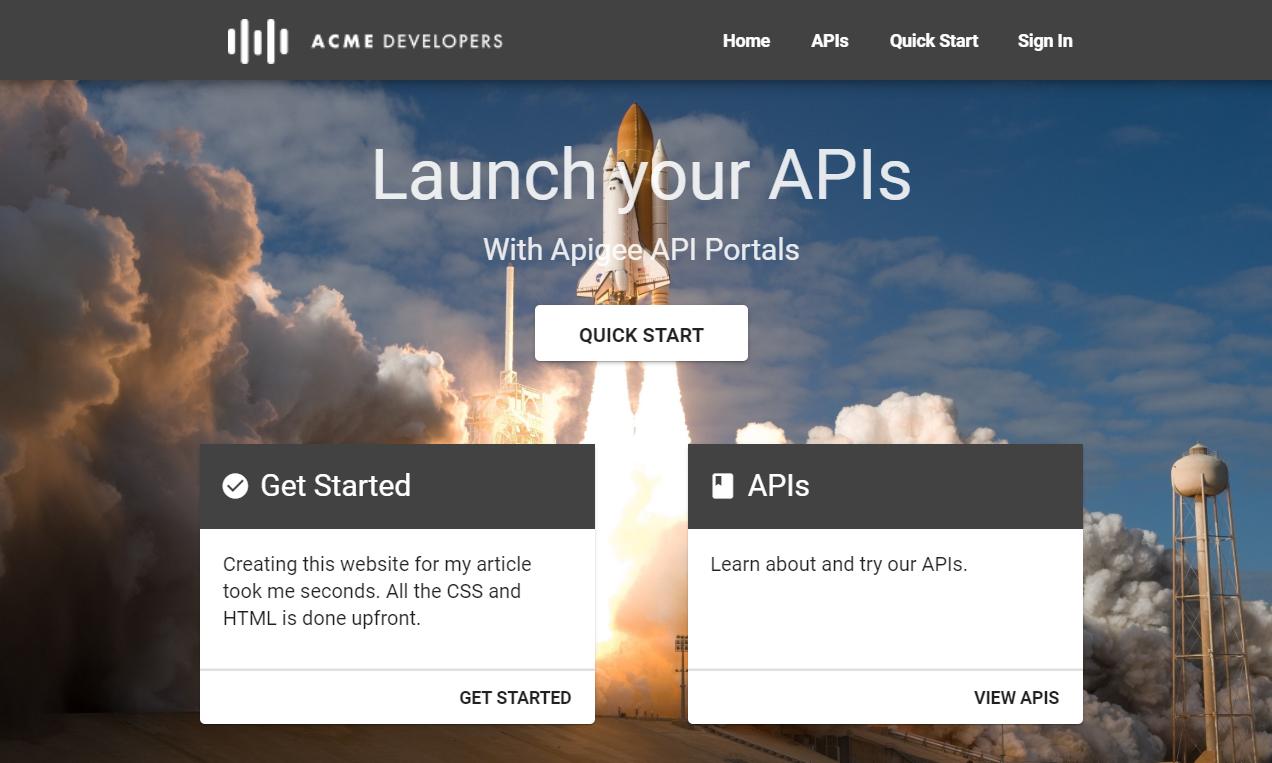 Apigee API GUI