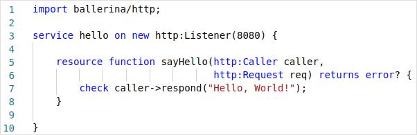 Ballerina HTTP Service Example