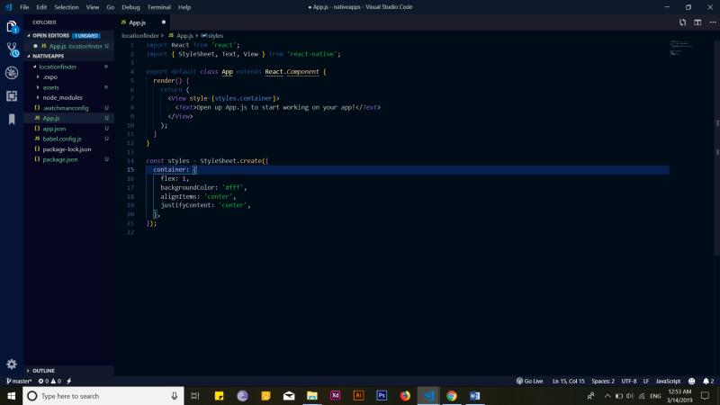 VS Code editor