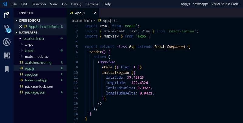 App component React Natvie