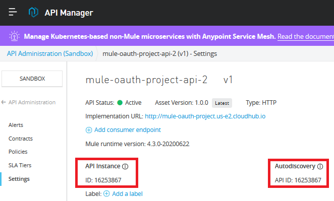 Selecting API Discovery