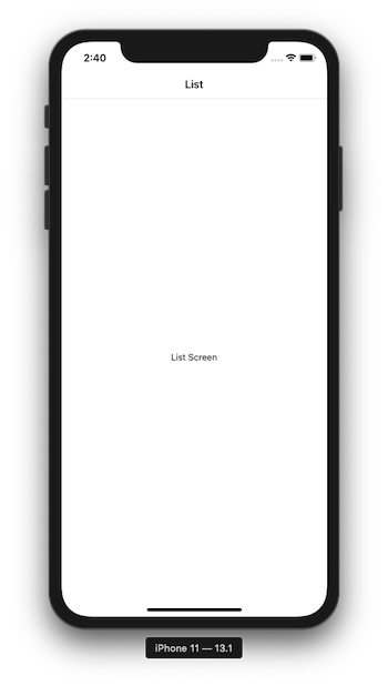 Initial screen with no customization