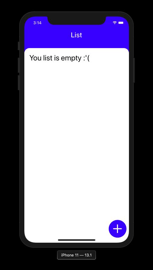 adding list to application