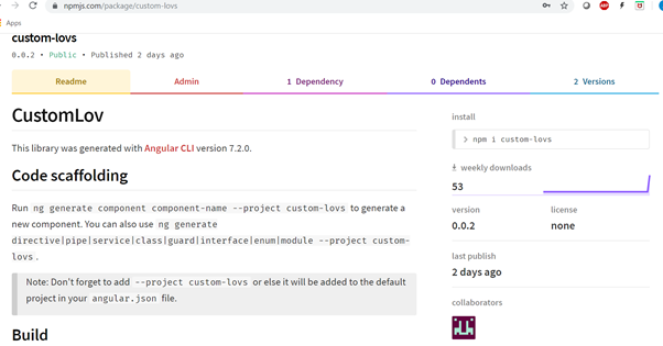 custom-lovs library on npm