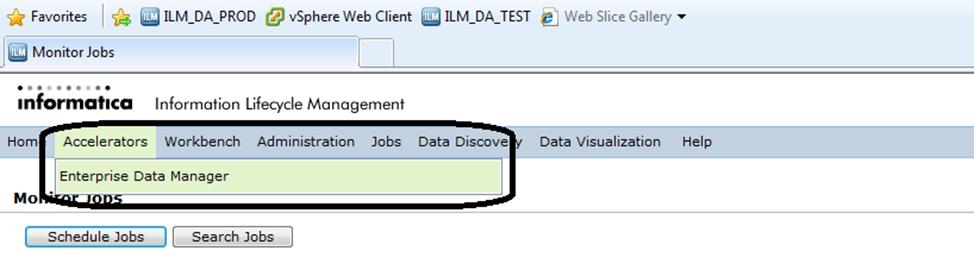 under accelerators, launch enterprise data manager (EDM)