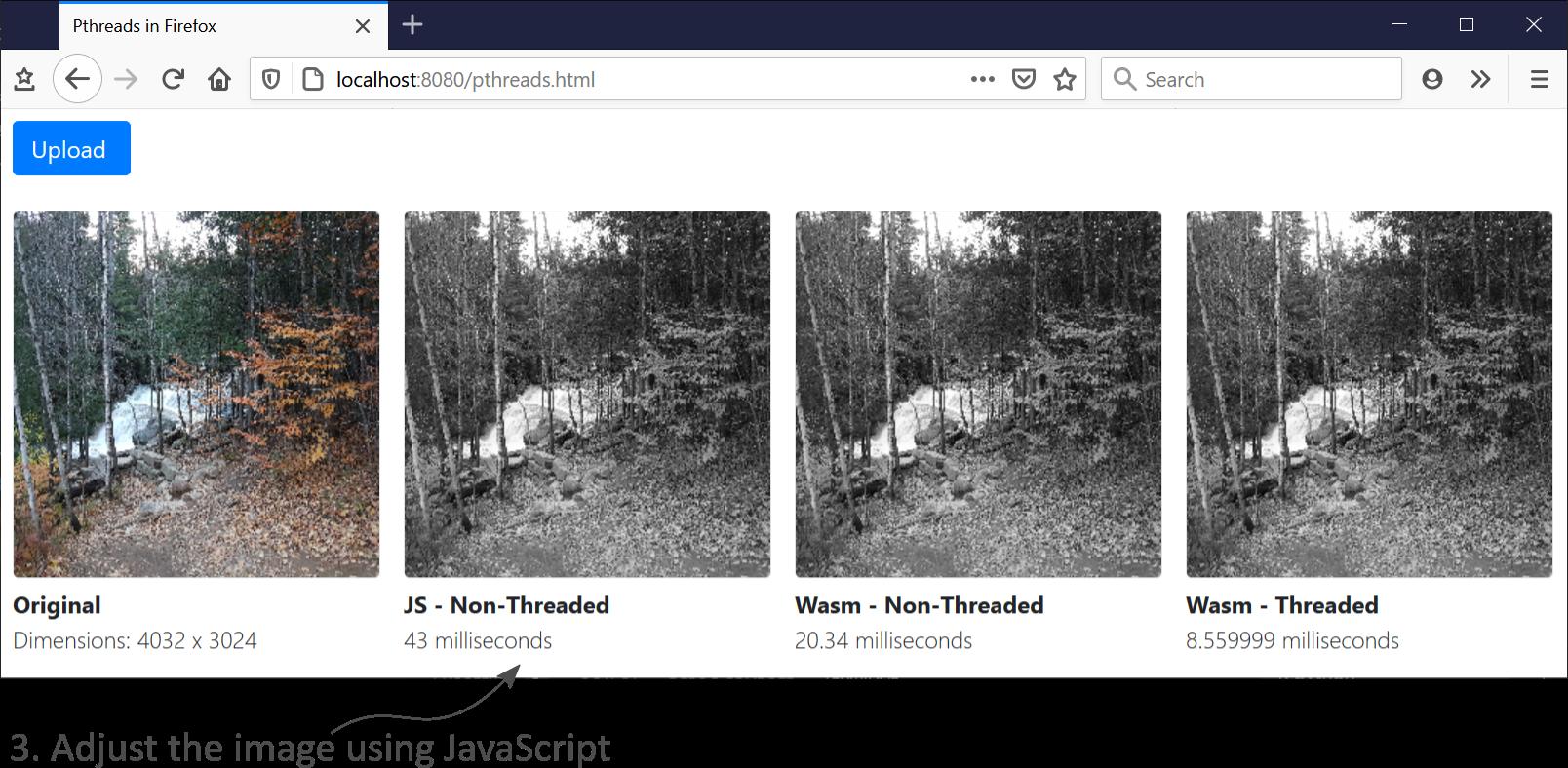 Adjusting images using javascript