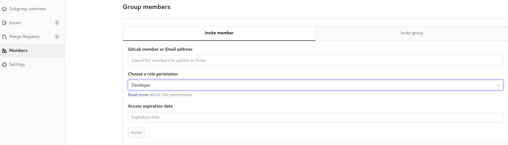 Adding group members to GitHub