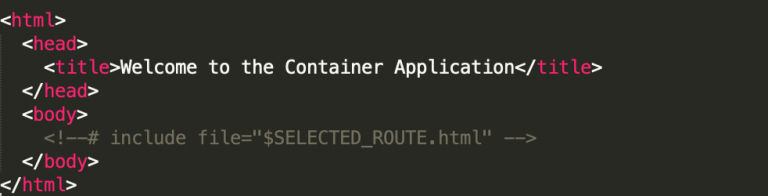 Welcome to the Container Application