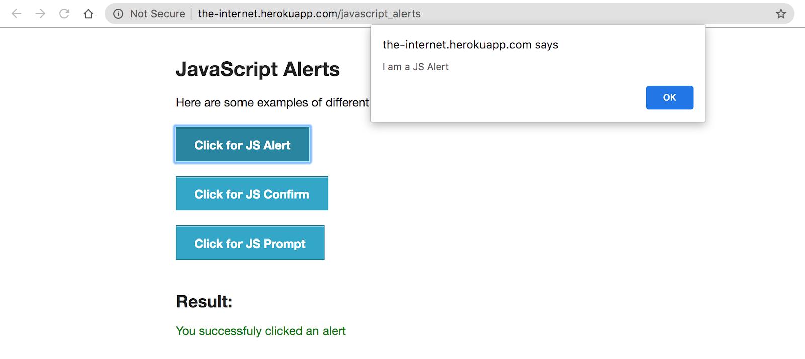 JavaScript Alerts
