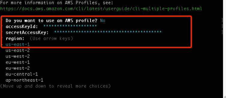 using an AWS profile
