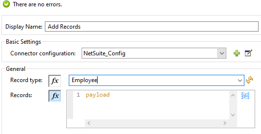 adding employee in record type