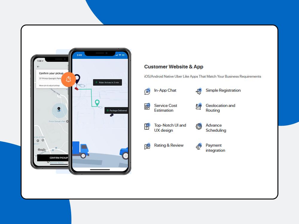 customer website