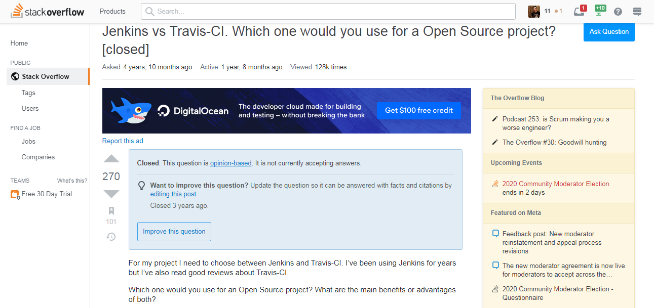 jenkins vs Travis CI