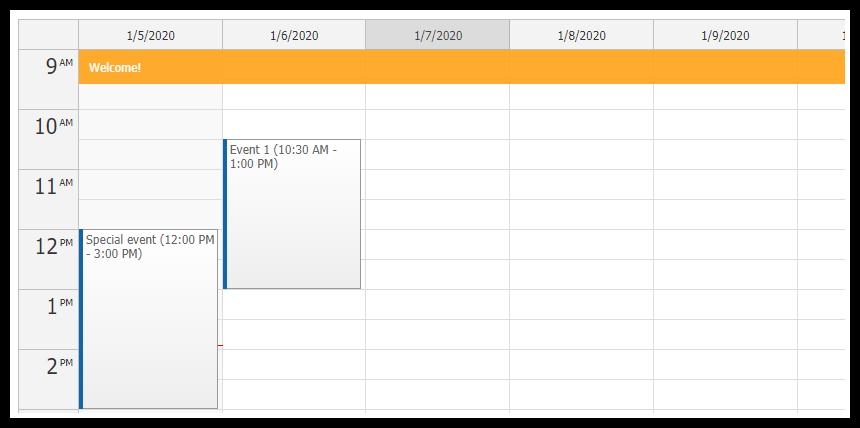 DayPilot Event Calendar