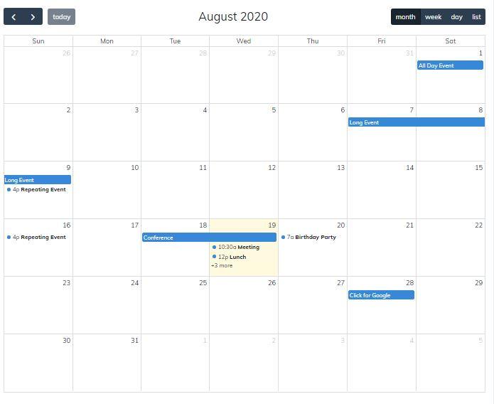 FullCalendar Scheduler