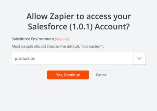 Allow Zapier to access Salesforce
