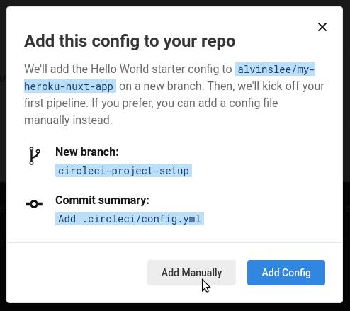 Adding config to repo