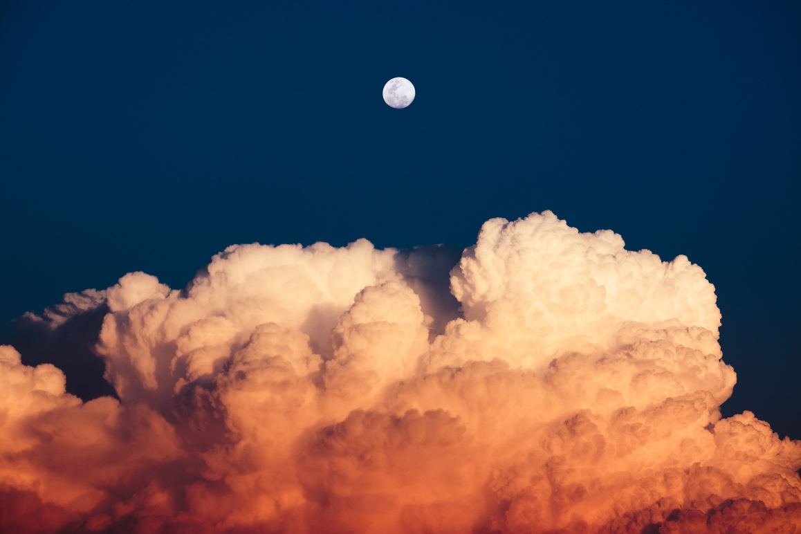 Cloud over moon