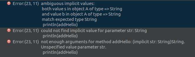 multiple implicit variables