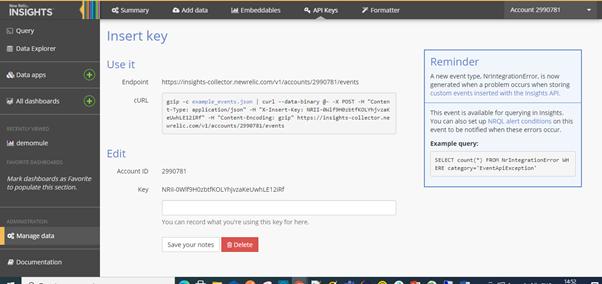 Insert Key page screenshot.