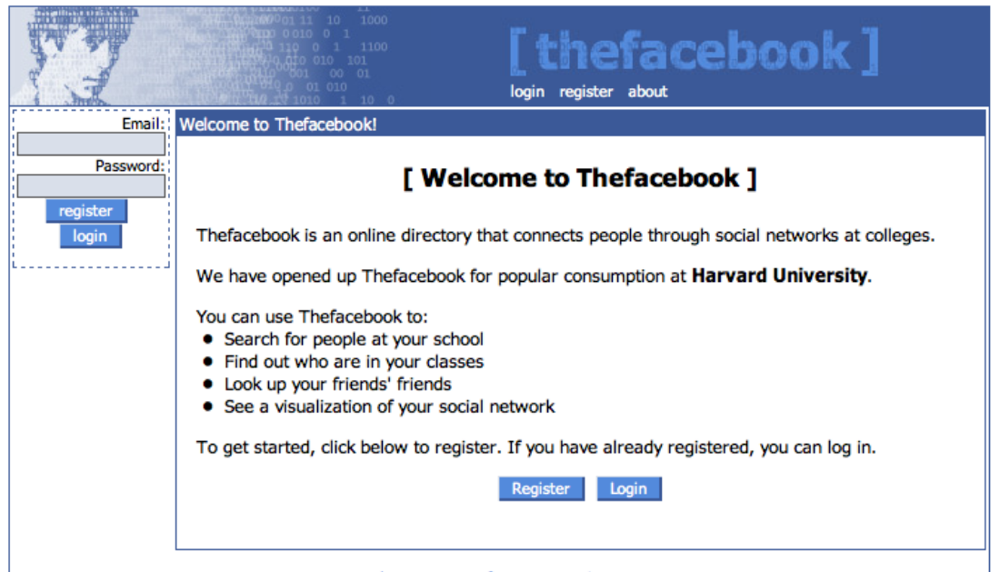 Thefacebook screenshot.