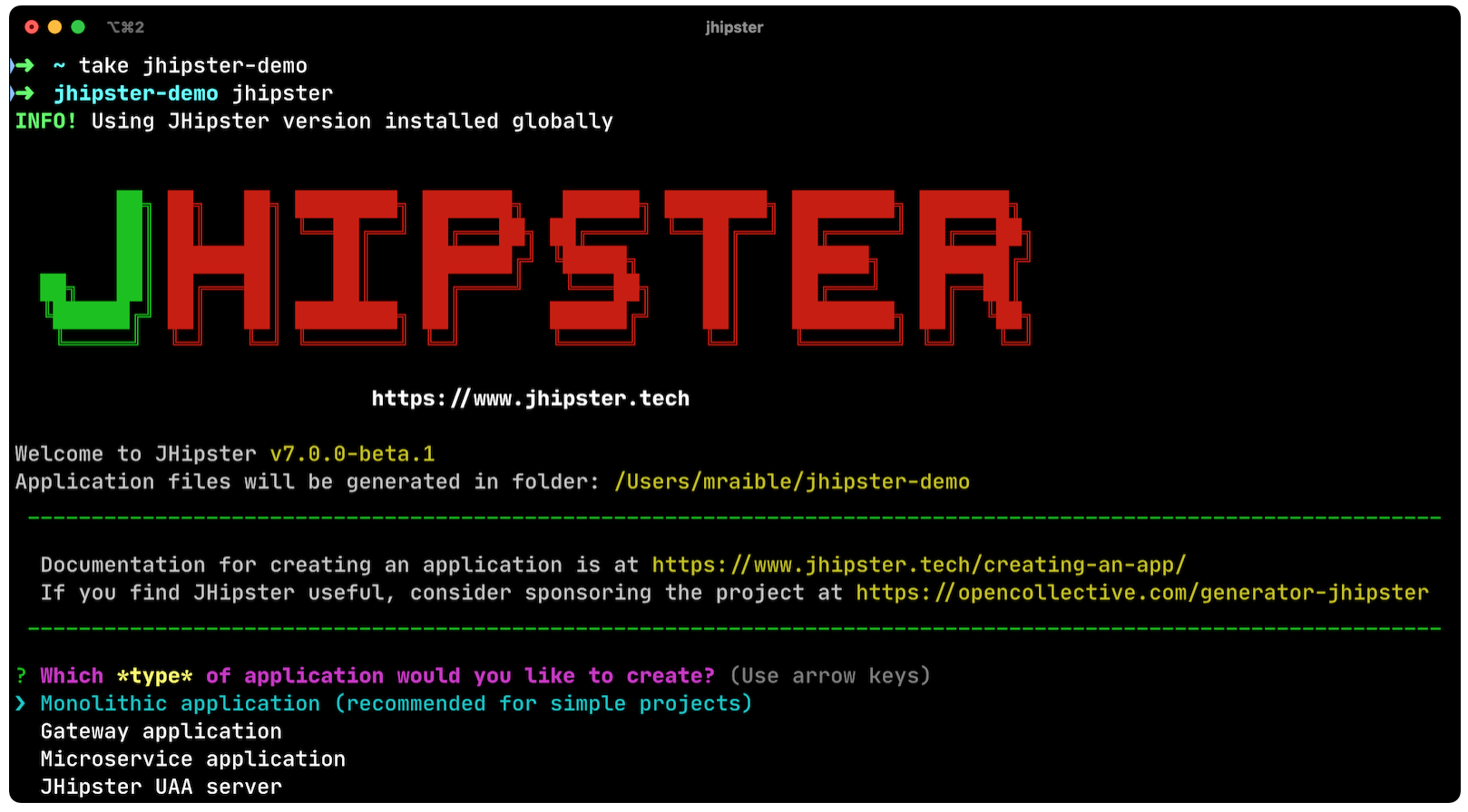 JHipster code