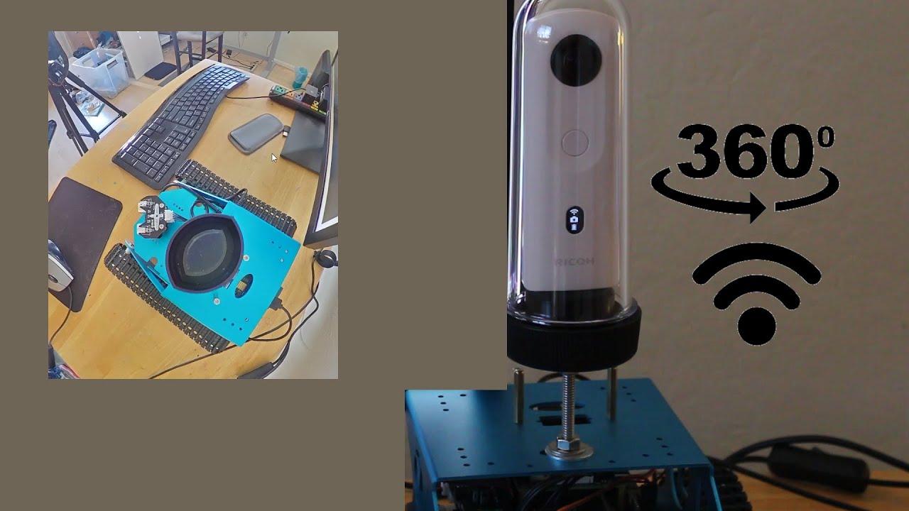 360 camera robot monitoring