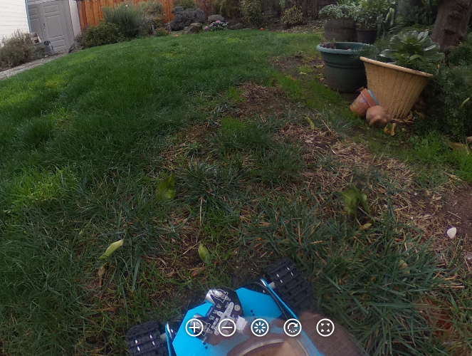 View from robot with 360 camera
