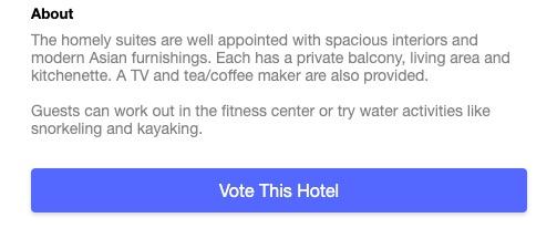 Vote This Hotel Button