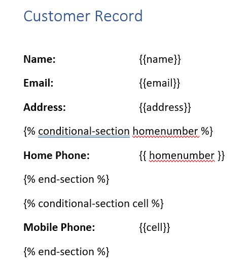 Customer Record Closeup 2