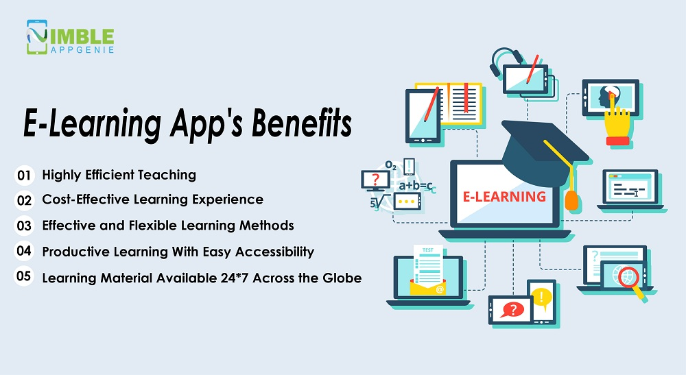 E-learning app's benefits