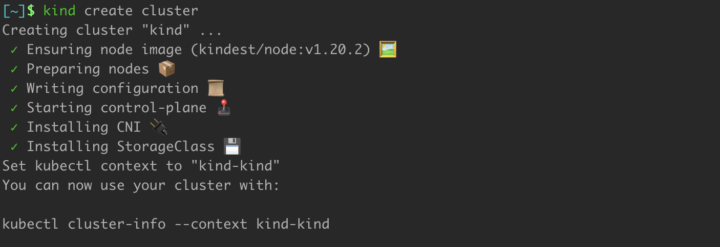 Creating a Cluster With Kind