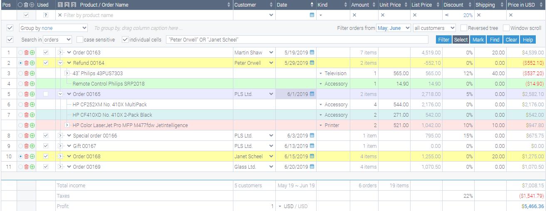 EJS TreeGrid screenshot