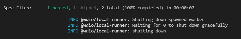 Results in the command line screenshot.