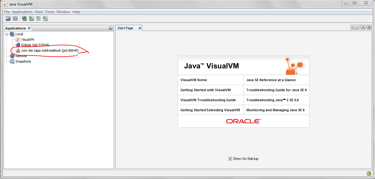 Fig: Java Visual VM