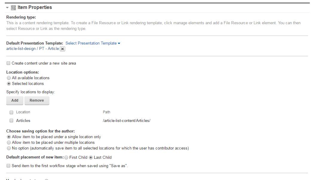 creating an article list with ibm wcm 8.0 (part 2) - newsdog, Presentation templates