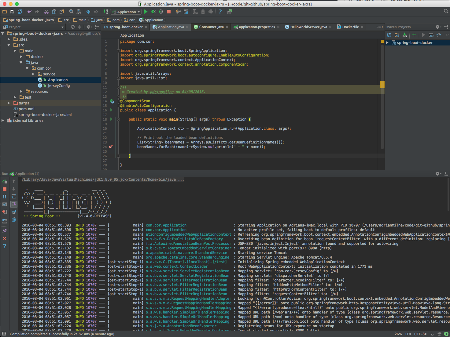 IntelliJ Screen