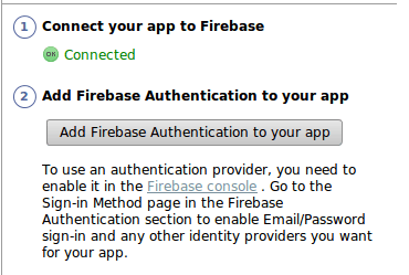 Using Firebase Tools in Android Studio for Firebase Auth