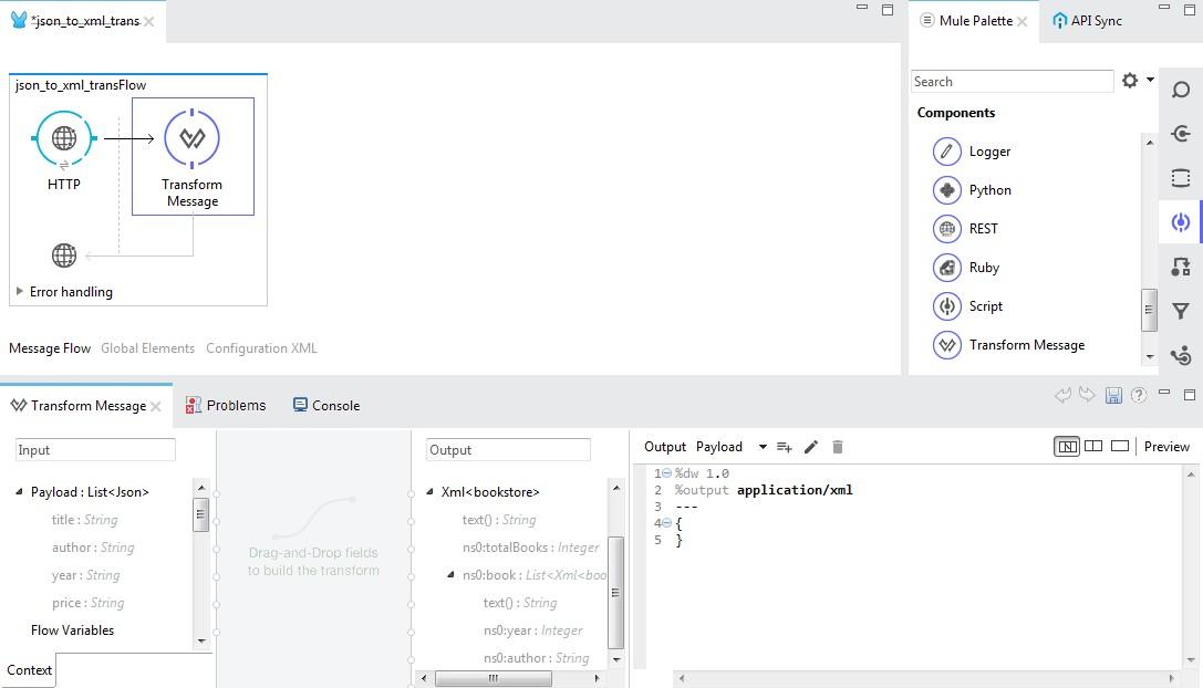 JSON to XML Transformation Using DataWeave - DZone Integration
