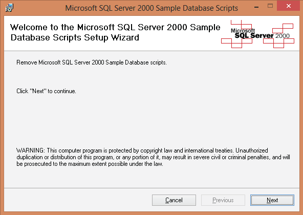 Microsoft SQL Server 2000 Sample Database Scripts