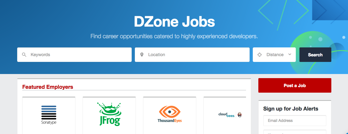 DZone Jobs - Developer Job Board