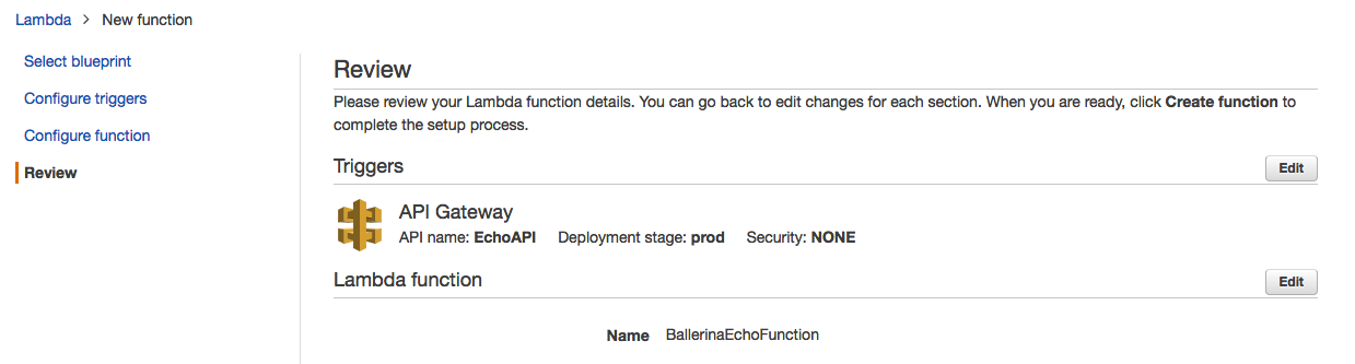 Implementing Serverless Functions With Ballerina on AWS