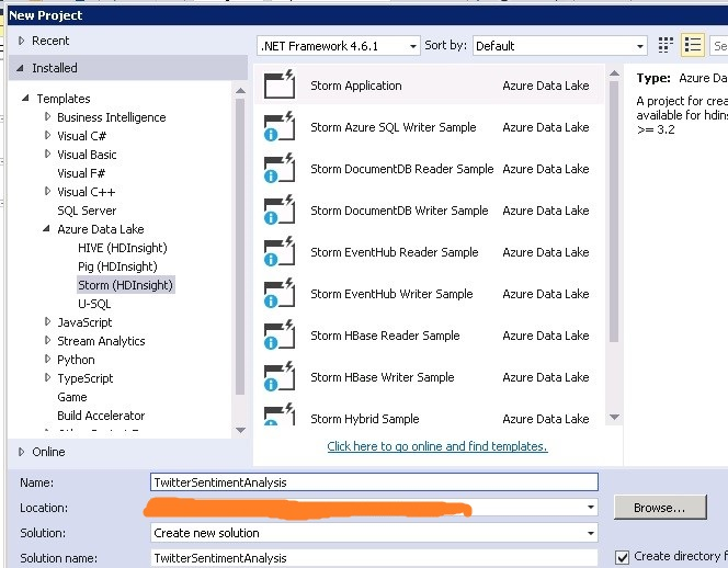 Figure 4.1 Storm application in Visual Studio