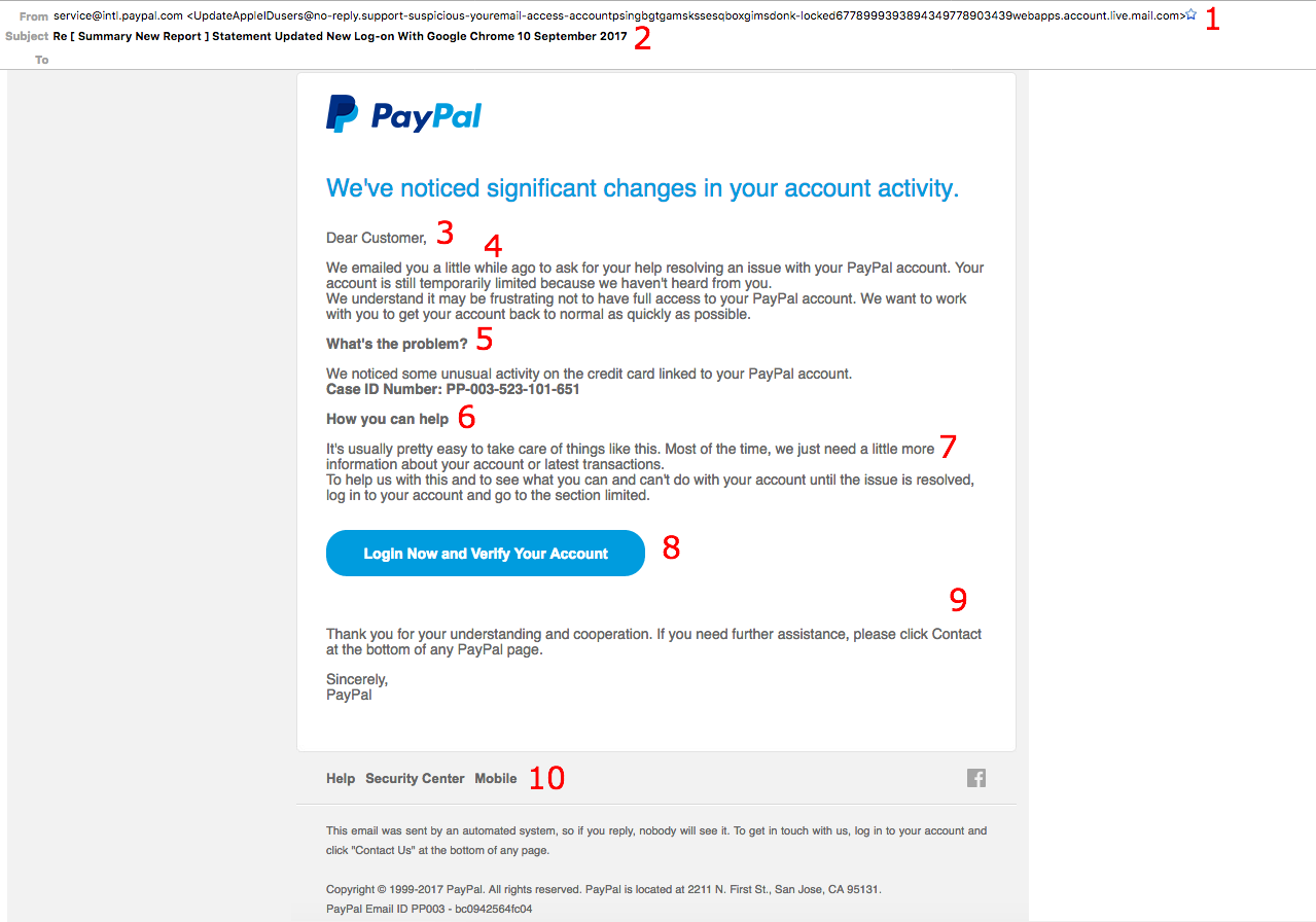 they're trying to hack your account: analyzing a real phishing email