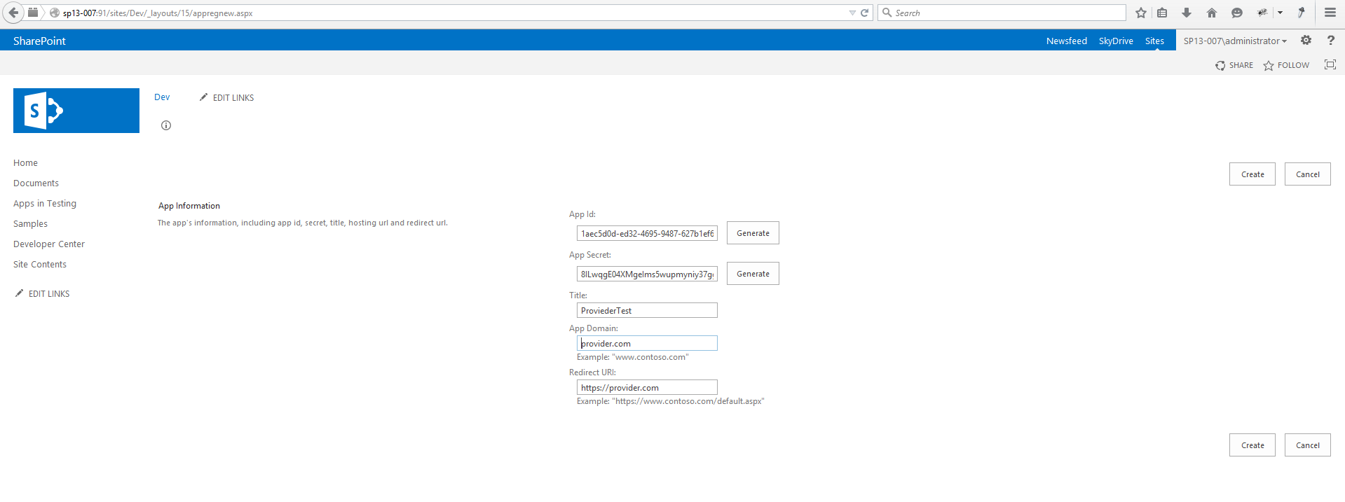 how to generate generic certificate for all sharepoint web application